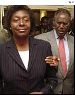 Charity Ngilu and George Saitoti