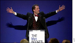 Yann Martel accepting the Booker Prize
