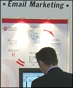E-mail marketing stand at DM Show