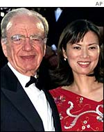 Rupert Murdoch and Wendy Deng