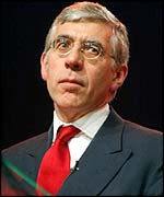 British Foreign Secretary Jack Straw