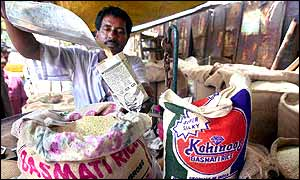 Indian rice vendor