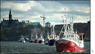Swedish fishing boats