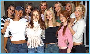 The Popstars Rivals girls: Linzi, second from right has been voted off