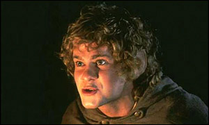 Dominic Monaghan as Merry, the Hobbit