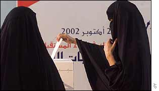 Women voting in Riffa
