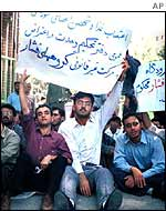 A political demonstration in Iran