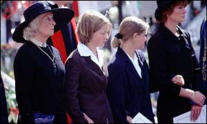 Mrs Shand Kydd at Diana's funeral
