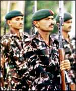 Bangladeshi soldiers on parade