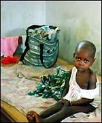 Child in Kindu hospital