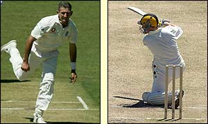 Andy Caddick claimed two wickets at the WACA, including Western Australia opener Chris Rogers