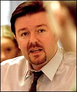 Ricky Gervais, the boss in the BBC hit comedy, The Office