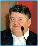 Robbie Coltrane plays Hagrid