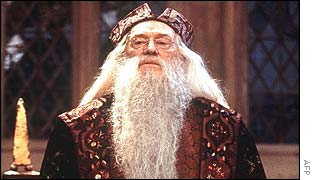 Richard Harris as Professor Dumbledore in Harry Potter and the Philospher's Stone