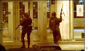Russian special forces outside theatre