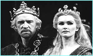 The actor plays King Arthur with actress Fiona Fullerton. He made his name on stage before moving to films