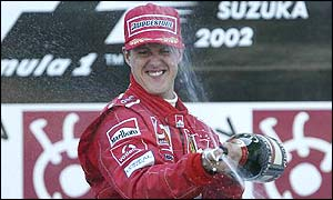 Michael Schumacher finished on top once again