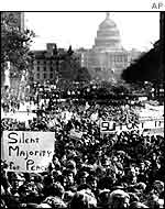Peace march in 1969