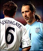 David Seaman talks business with Gareth Southgate