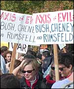 Axis of Evil: Bush, Cheney and Rumsfeld