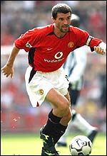 Roy Keane in action for Manchester United