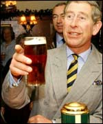 Prince Charles in the pub, PA