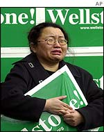 Grieving Wellstone supporter