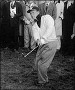 Arnold Palmer playing in the 1961 Ryder Cup at Royal Lytham