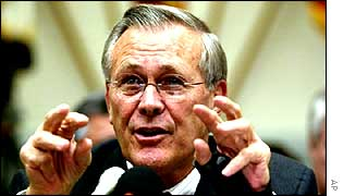 Donald Rumsfeld, US Defence Secretary