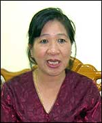 Dr Chansy Phimphachanh who chairs the Lao National Committee for the Control of Aids
