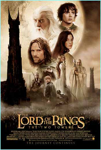 The latest poster for the next Rings movie, The Two Towers