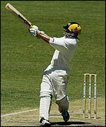 Chris Rogers launches a boundary