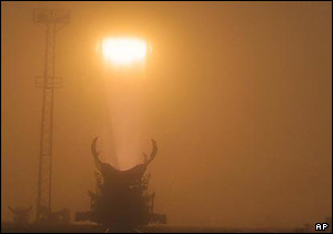 Blast-off from the Baikonur spaceport, AP