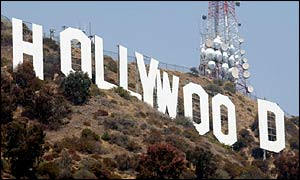Holywood sign in the Hollywood hills