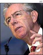 Competition Commissioner Mario Monti
