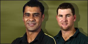 Waqar Younis and Alistair Campbell - rival captains in Zimbabwe
