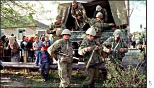 Russian operation inside Chechnya ain 1999
