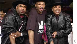 Jam Master Jay, Darryl (DMC) McDaniels, centre, and Joseph (Run) Simmons