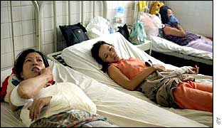 Survivors in hospital in Ho Chi Minh City