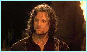 Viggo Mortensen plays Aragorn in Lord of the Rings