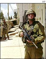 Israeli soldiers outside Ramallah