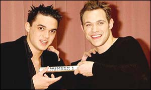Gareth Gates (left) and Will Young