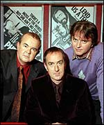 Ian Hislop, former host Angus Deayton and Paul Merton