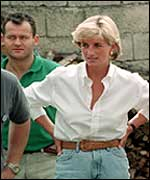 Paul Burrell with Princess Diana