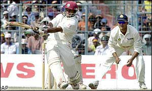 The runs flow for West Indies batsman Shivnarine Chanderpaul