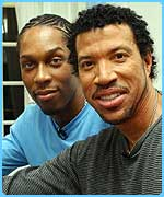 Lemar with legendary singer Lionel Ritchie