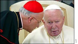 Cardinal Francis George with the Pope