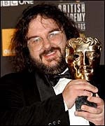 Peter Jackson receives his Oscar for Best Director