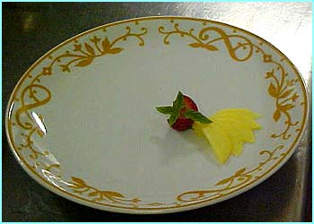 Add some decoration to the plate before you start