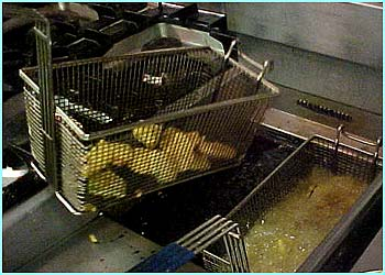 This is a deep fat fryer but it's much safer for you to shallow fry them in a non-stick pan